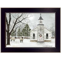 """I Heard the Bells on Christmas"" by Billy Jacobs, Ready to Hang Framed Print, Black Frame"