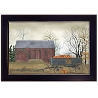 """""""Pumpkin Wagon"""" by Billy Jacobs, Ready to Hang Framed Print, Black Frame"""