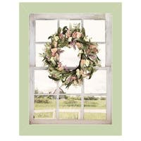 """Summer View"" by Lori Deiter, Ready to Hang Framed Print, Light Green Window-Style Frame"