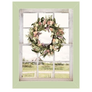 """""""Summer View"""" by Lori Deiter, Ready to Hang Framed Print, Light Green Window-Style Frame"""