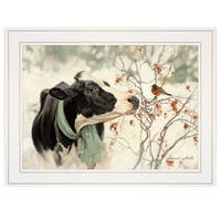 """""""The Winter Robin"""" by Bonnie Mohr, Ready to Hang Framed Print, White Frame"""