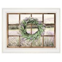 """Country Gazing"" by Lori Deiter, Ready to Hang Framed Print, White Window-Style Frame"
