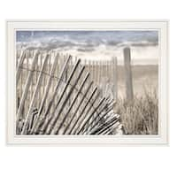 """On The Coastline"" by Lori Deiter, Ready to Hang Framed Print, White Frame"