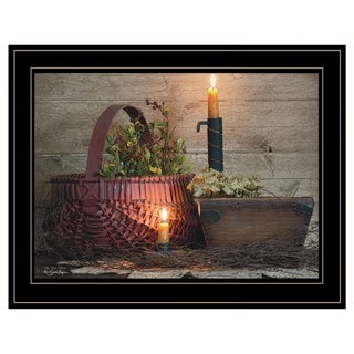 """Link to """"The Red Basket"""" by Susie Boyer, Ready to Hang Framed Print, Black Frame Similar Items in Art Prints"""