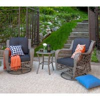 Rattan Motion Chair Set and Side Table
