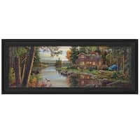 """Peace Like a River Panoramic"" by Kim Norlien, Ready to Hang Framed Print, Black Frame"