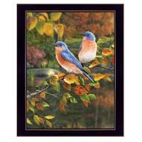 """Bluebirds"" by Kim Norlien, Ready to Hang Framed Print, Black Frame"