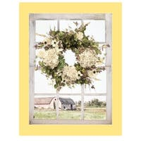 """""""Pleasant View"""" by Lori Deiter, Ready to Hang Framed Print, Yellow Window-Style Frame"""
