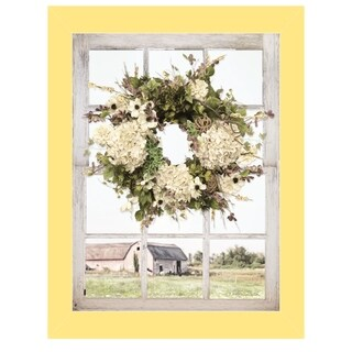 """Pleasant View"" by Lori Deiter, Ready to Hang Framed Print, Yellow Window-Style Frame"