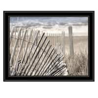 """On The Coastline"" by Lori Deiter, Ready to Hang Framed Print, Black Frame"