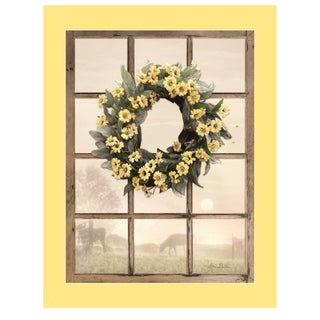 """Country Gazing"" by Lori Deiter, Ready to Hang Framed Print, Yellow Window-Style Frame"