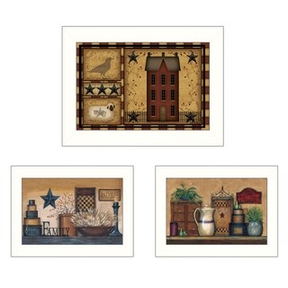"""""""Primitive Saltbox Collection"""" 3-Pc Vignette by Carrie Knoff"""