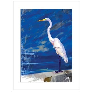"""Egret"" by Tim Dardis, Ready to Hang Framed Print, White Frame"