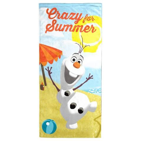 "Disney Frozen Olaf Crazy for Summer Cotton Beach/Bath Towel - 28"" x 58"""