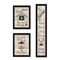 """The Kitchen Collection I"" 3-Piece Vignette by Millwork, Black Frame"