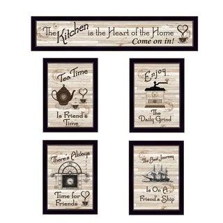 """""""Kitchen Friendship Collection II"""" 5-Piece Vignette by Millwork Engineering, Black Frame"""