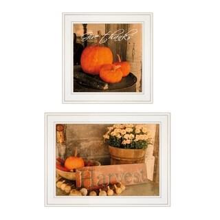 """Autumn Harvest"" 2-Piece Vignette by Anthony Smith, White Frame"