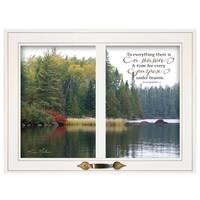"""To Everything There is a Season"" by Kim Norlien, Ready to Hang Framed Print, White Window-Style Frame"