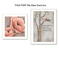 """Ones You Love"" 2-Piece Vignette by Kenda Runnels, White Frame"