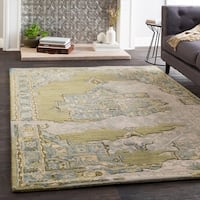 Marlow Green Handmade Wool Vintage Area Rug (8' x 10') - 8' x 10'