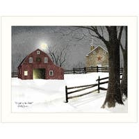 """Light in the Stable"" by Billy Jacobs, Ready to Hang Framed Print, White Frame"