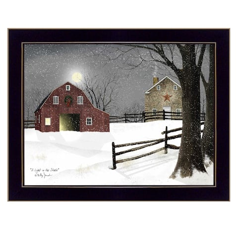 """Light in the Stable"" by Billy Jacobs, Ready to Hang Framed Print, Black Frame"