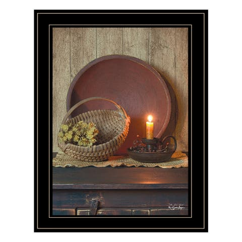 """""""The Red Basket"""" by Susie Boyer Ready to Hang Black Framed Print"""