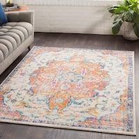 Ani Vintage Saffron/Multicolor Area Rug - 7'10 x 10'3
