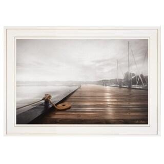 """Newport Dock I"" by Lori Deiter, Ready to Hang Framed Print, White Frame"