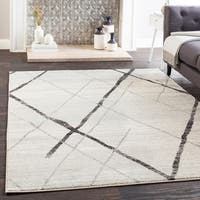 "Mellie Gray Contemporary Lines Area Rug (7'10"" x 10'3"")"
