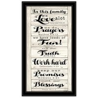"""In this Family"" by Cindy Jacobs, Ready to Hang Framed Print, Black Frame"