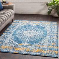 Myah Traditional Blue/Saffron Rug