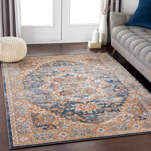 Shop Payton Blue/Taupe Traditional Medallion Area Rug