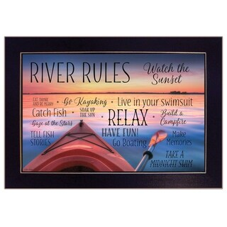 """""""River Rules"""" by Lori Deiter, Ready to Hang Framed Print, Black Frame"""