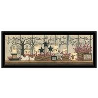 """Willow Tree Shelf Collection"" by Linda Spivey, Ready to Hang Framed Print, Black Frame"