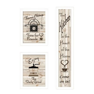 """""""The Kitchen Collection I"""" 3-Piece Vignette by Millwork, White Frame"""