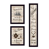 """The Kitchen Collection II"" 3-Piece Vignette, Black Frame"