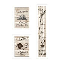 """The Kitchen Collection II"" 3-Piece Vignette, White Frame"