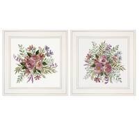 """Floral Spray I & II"" 2-Piece Vignette by Cindy Jacobs, White Frame"