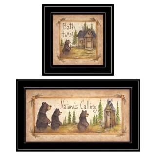 """Natures / Bath"" 2-Piece Vignette by Mary Ann June, Black Frame"