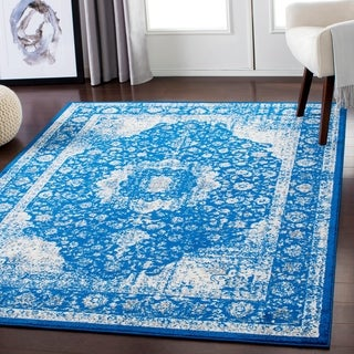 "Lena Dark Blue Traditional Area Rug - 5'3"" x 7'3"""