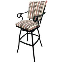 Jenna 26-inch Striped Unholstered Outdoor Bar Stool