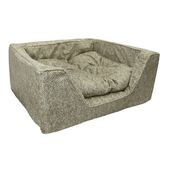 Snoozer Premium Micro Suede Palmer Dog Bed Medium Size in Citron (As Is Item) 35429819
