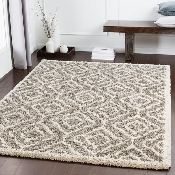 "Bette Brown Moroccan Trellis Shag Area Rug - 5'3"" x 7'3"""