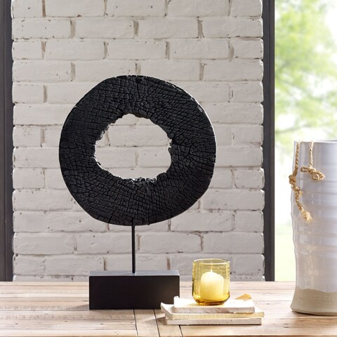 Ink and Ivy Russo Wood Black Decoration (Large)