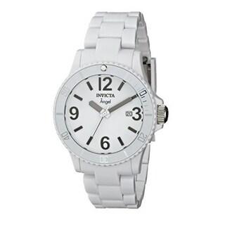 Invicta Women's Angel Plastic Watch with Link Bracelet (White)