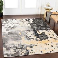 Rhea Grey Abstract Area Rug - 2' x 3'