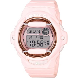 Casio Baby-G BG169G-4B Digital Women's Watch (Baby Pink / Rose Tone)