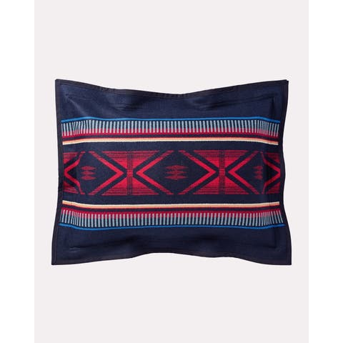 Pendleton Bighorn Pillow Sham (1 each) - Navy/Cream/Red