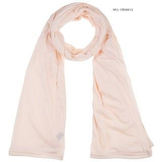 "BYOS Fashion Jersey Oblong Long Scarf Wrap Stole in Solid Color, 69"" X 29"" Inches, Daily Plain & Evening Studded Styles"